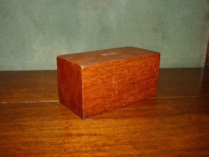 Early 20th Century Wooden Charity Box