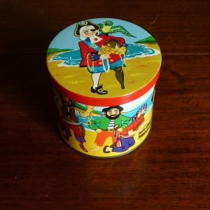 Blue Bird Toffee Tin Pirates 1970s