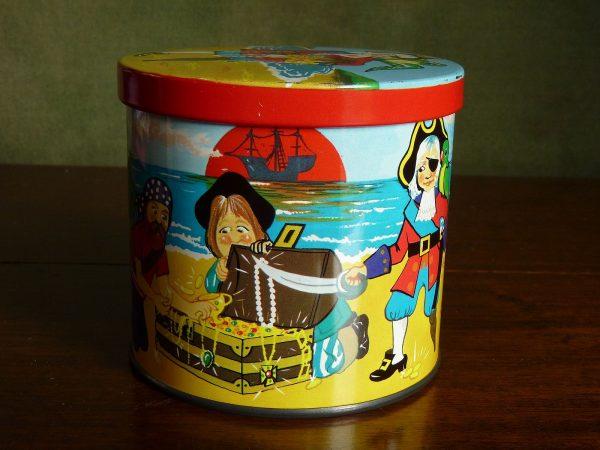 Blue Bird Toffee Tin Pirates 1970s