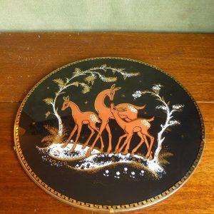 Domed plate of deer