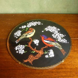 Domed plate with two birds