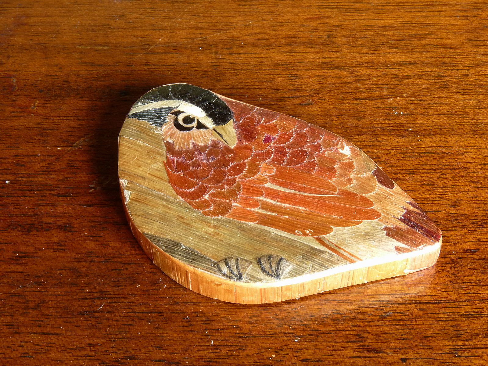 Bird-shaped Veneered Box