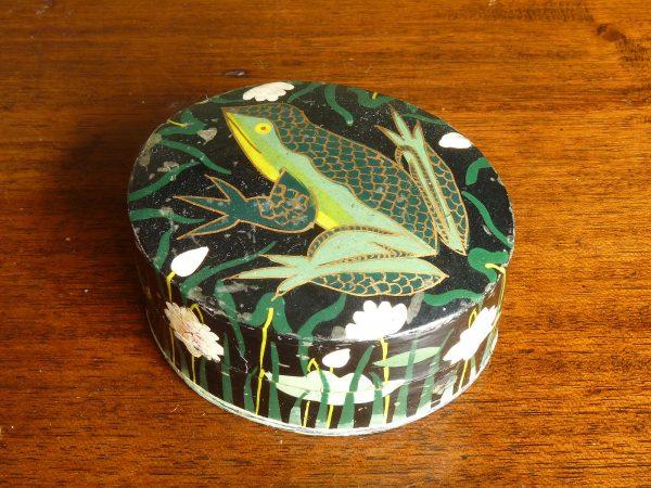 Vintage Papier Mache Box - frog