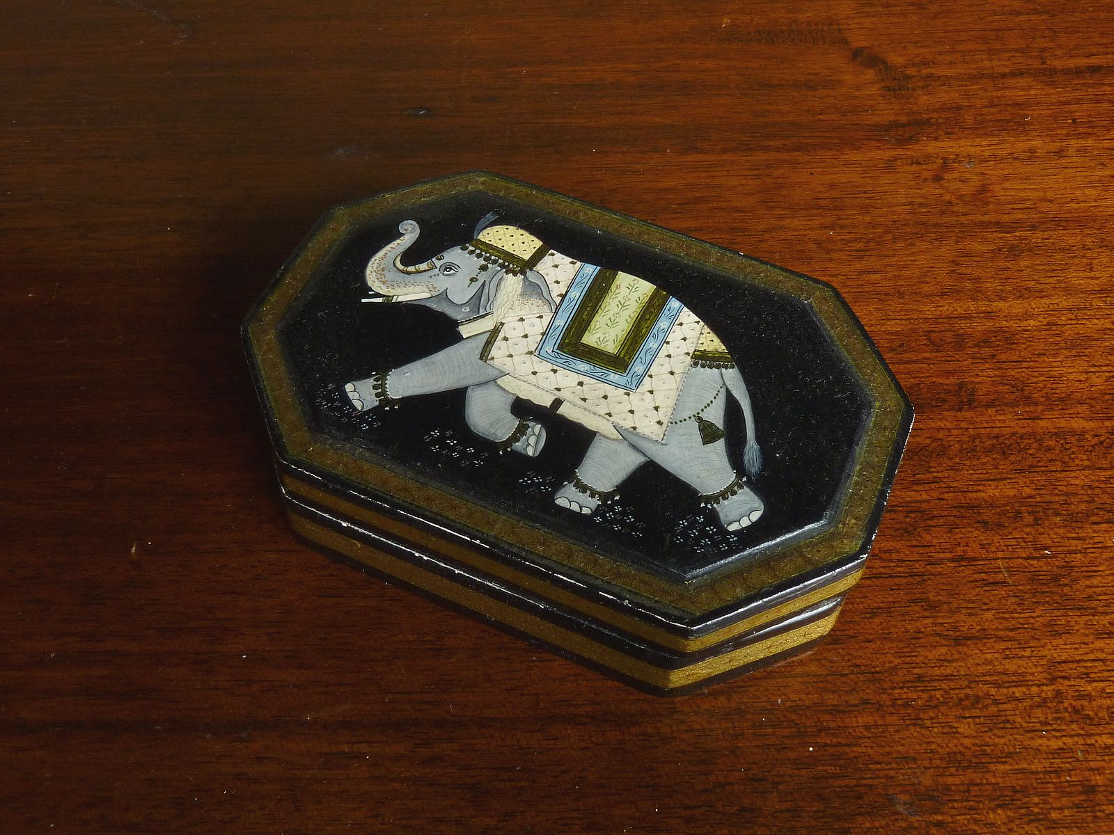 Papier Mache Elephant Design Box