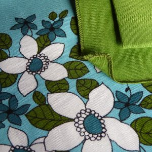 Dunmoy Green and Blue Floral Tablecloth