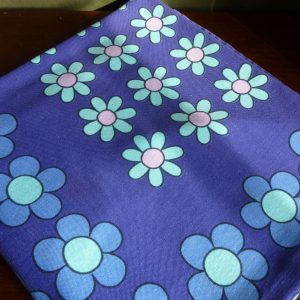 Blue and Purple Floral Tablecloth