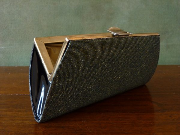 Elbief Green and Gold Clutch Bag