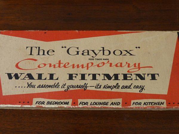 """Gaybox"" wall fitment wood shelving"