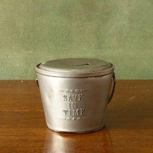 Save In Time Tin Money Box