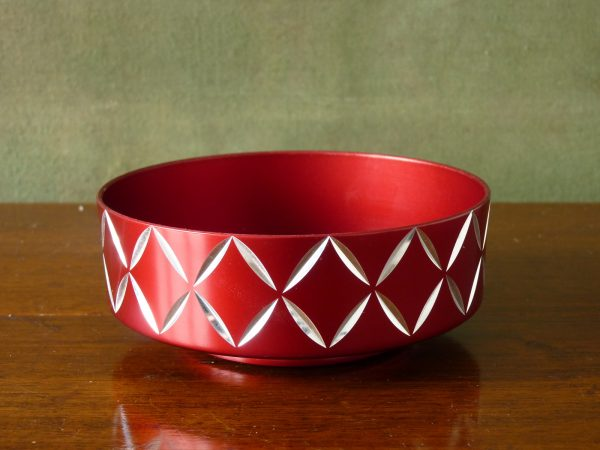 Conrah Red Diamond Design Bowl
