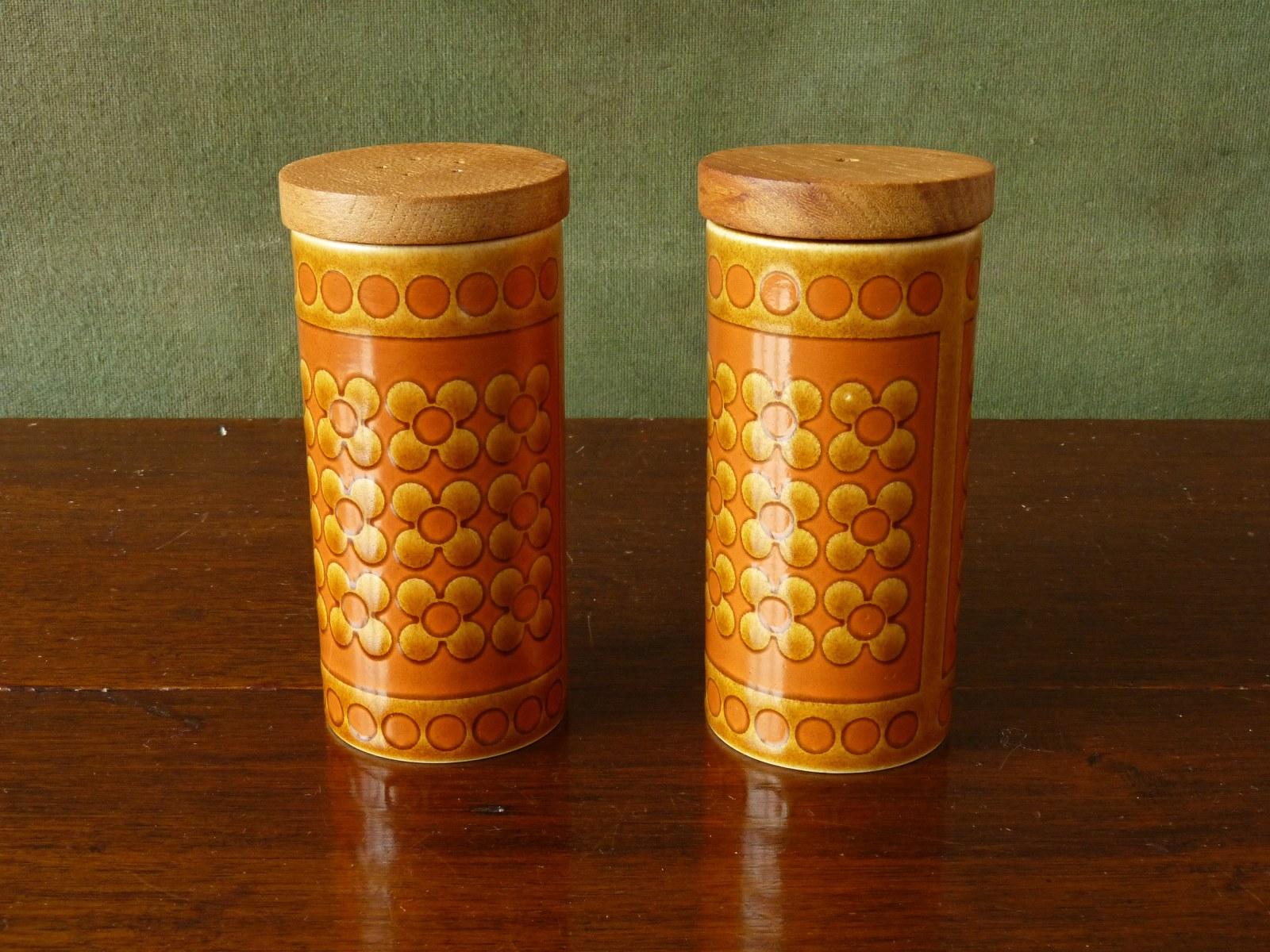 """Hornsea """"Saffron"""" Tall Salt and Pepper Pots"""