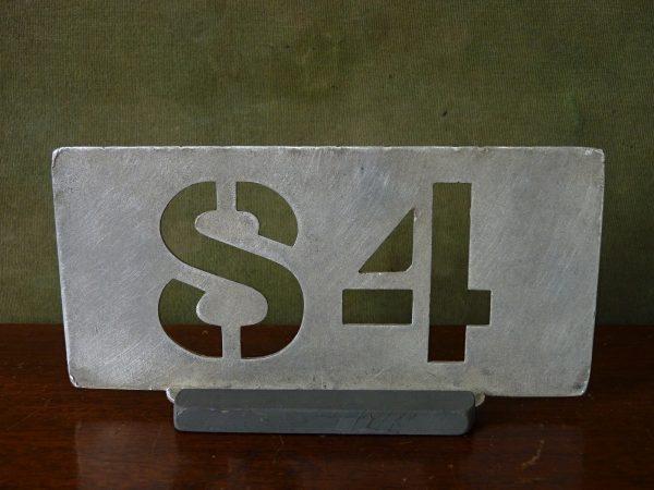 Aluminium Garage Running Number 84