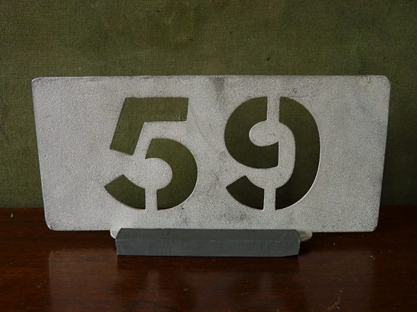 Aluminium Garage Running Number 59