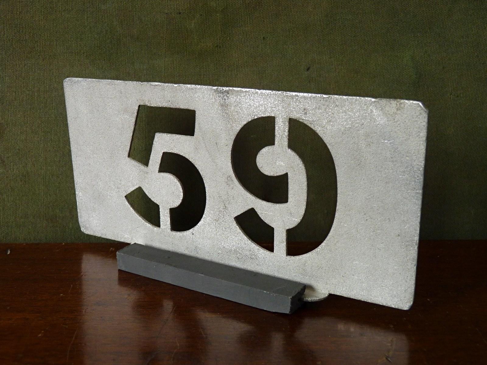 Aluminium Garage Running Number 59