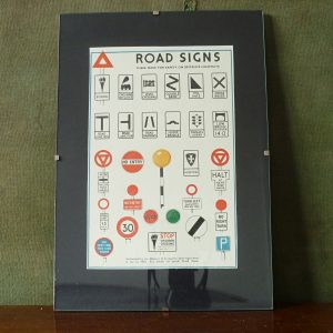 c. 1949 Road Signs Small Poster