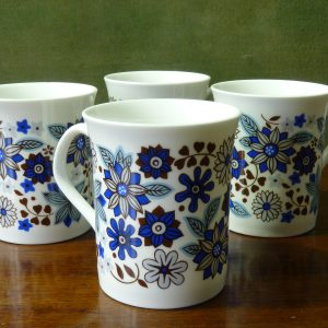 "Elizabethan Fine Bone China ""Carnaby"" 2 Blue"