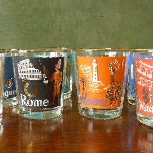 Libbey International Cities Glass Tumblers