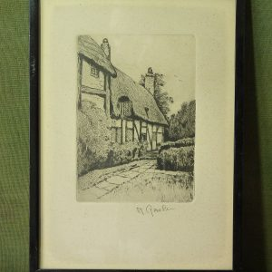 "Framed Limited Edition Signed Artist's Proof of Anne Hathaway's Cottage, by William ""Willie"" Rawson"
