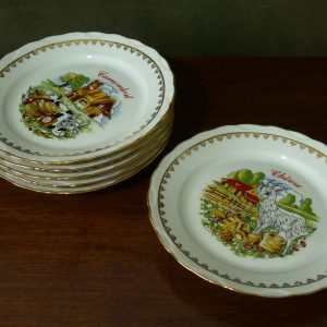 French Porcelain Cheese Plates