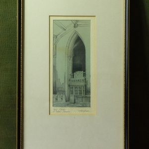 Pencil drawing St. Peter's Church, Nottingham by Alan Sherwin