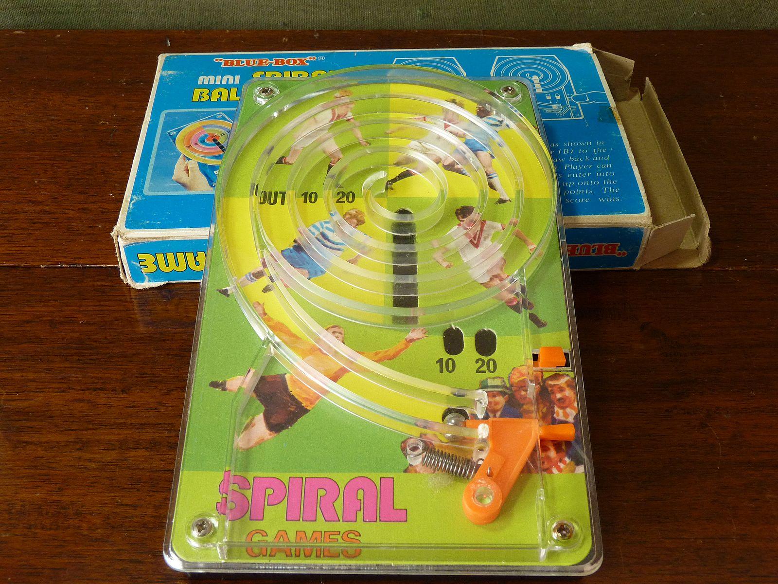 Blue Box Football Theme Spiral Game