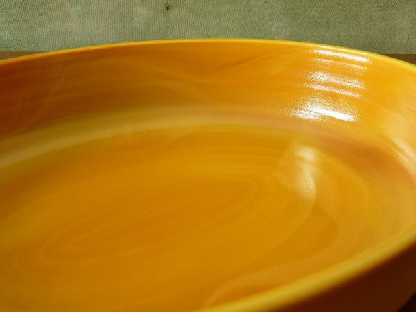 French Arcopal Volcan Oval Dish
