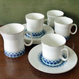 Blue Mink Design by John Russell for Hostess Tableware