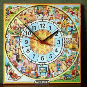 Vintage Victory Puzzle Clock