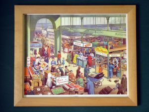 1962 Classroom Poster: A Market - from E. R. Boyce's