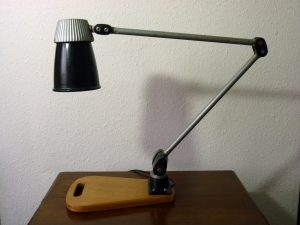 Vintage BHI Lo-Vo Lite Adjustable Machinist / Lathe Workshop Lamp