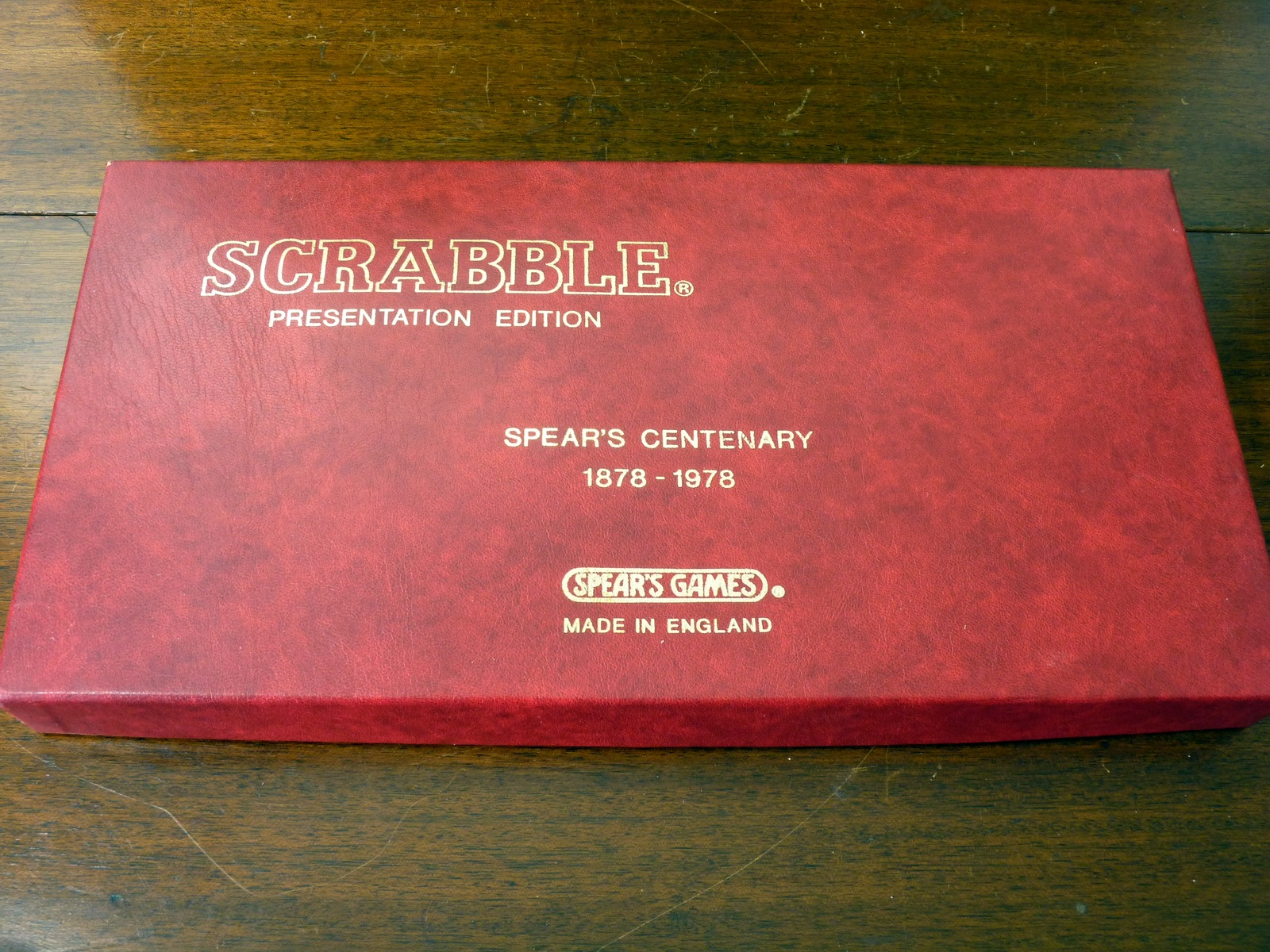 Spear's Games Centenary Scrabble Presentation Edition 1978
