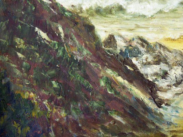 Original Oil Painting by K. S. Whte of Gara Rock
