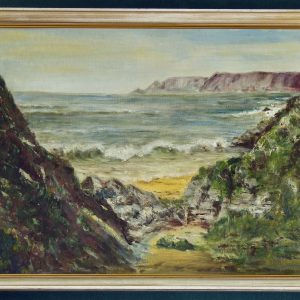 Original Oil Painting by K. S. Whte of Gara Rock