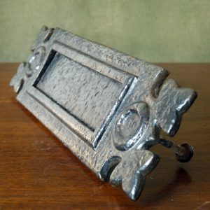 Cast Iron Decorated Sprung Small Letter Box