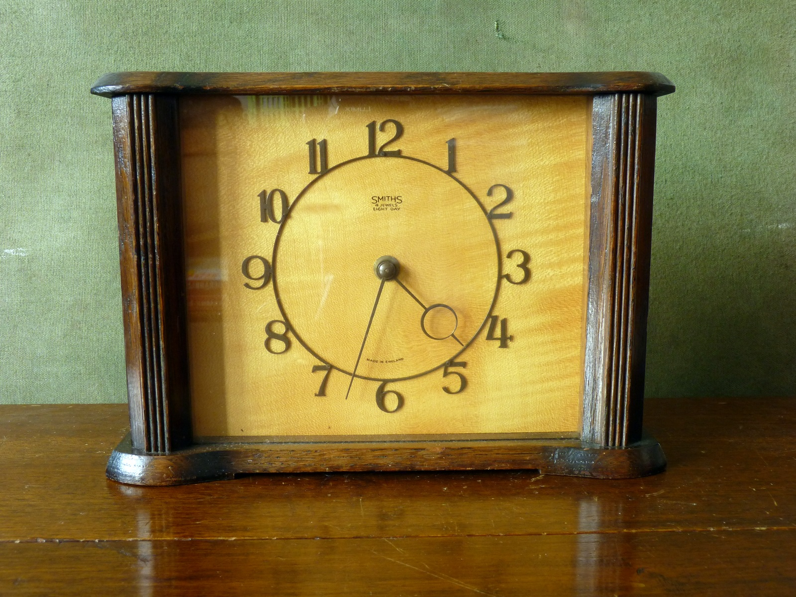 Smiths 4 Jewels Eight Day Mantel Clock