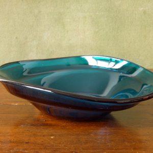 Sowerby Petrol Blue Pressed Glass Bowl Pattern Number 2802