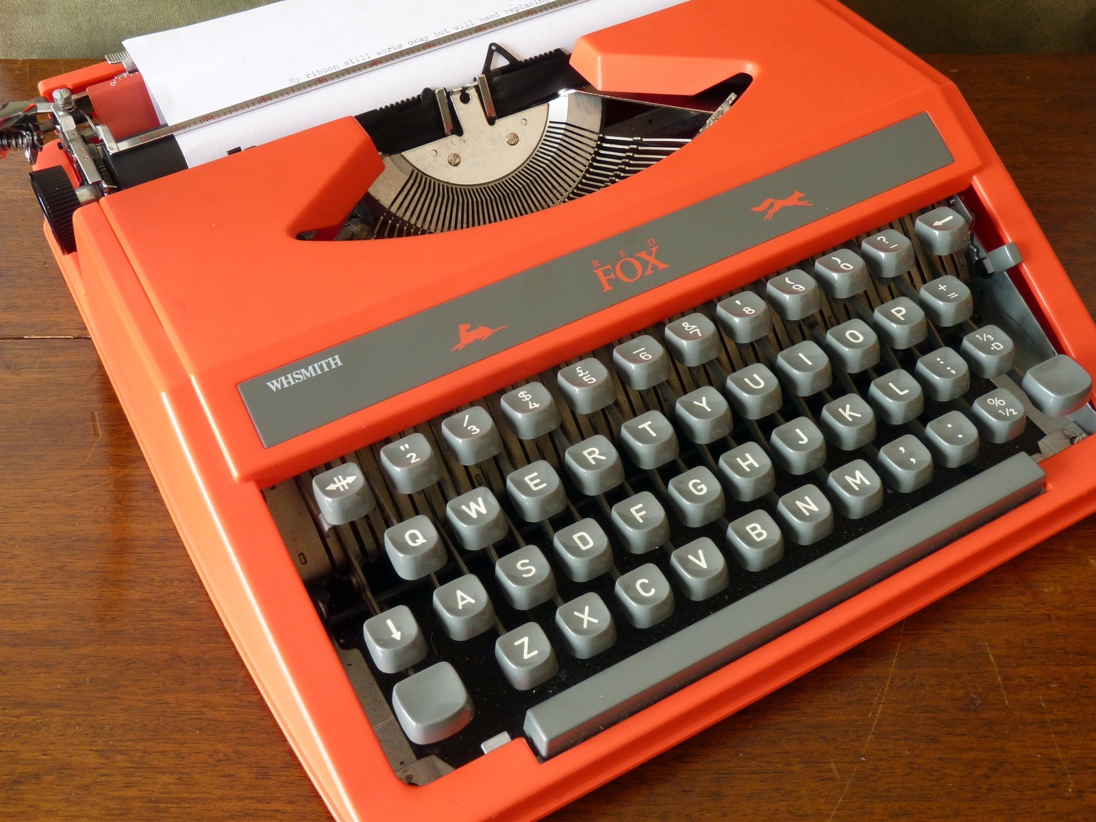 "WH Smith 1970s ""Red Fox"" Typewriter (aka Silver Reed SR-10)"