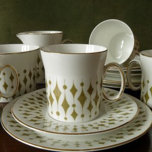 "Hostess Tableware in the ""Greenway"" pattern by John Russell"