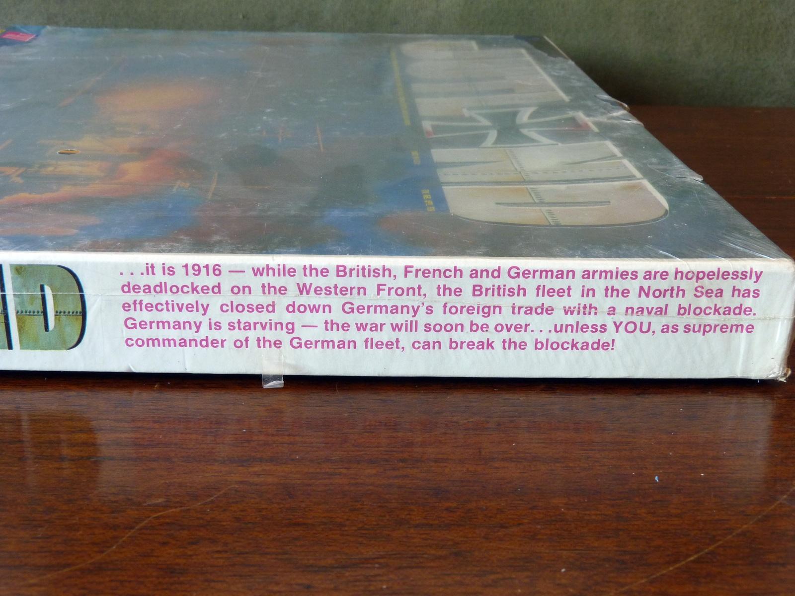 Complete 1967 Excellent Condition Jutland Board Game Avalon Hill