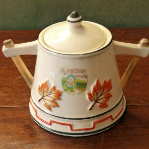 Vintage British Columbia Centenary Lidded Two Handled Jar
