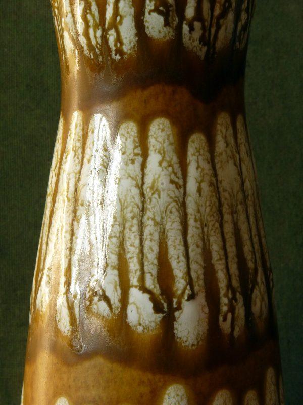 Large Mustard and Cream Textured Vase by Scheurich 520-28