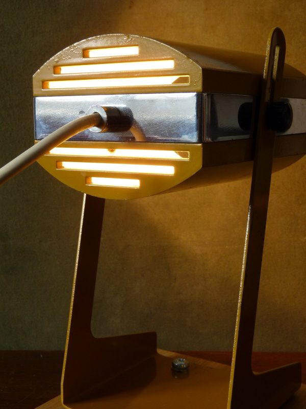 Stylish Mustard and Chrome Lamp made by Prova of Italy
