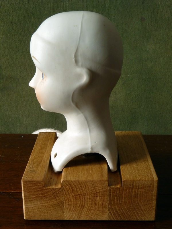 Converted Bisque Doll's Head Lamp