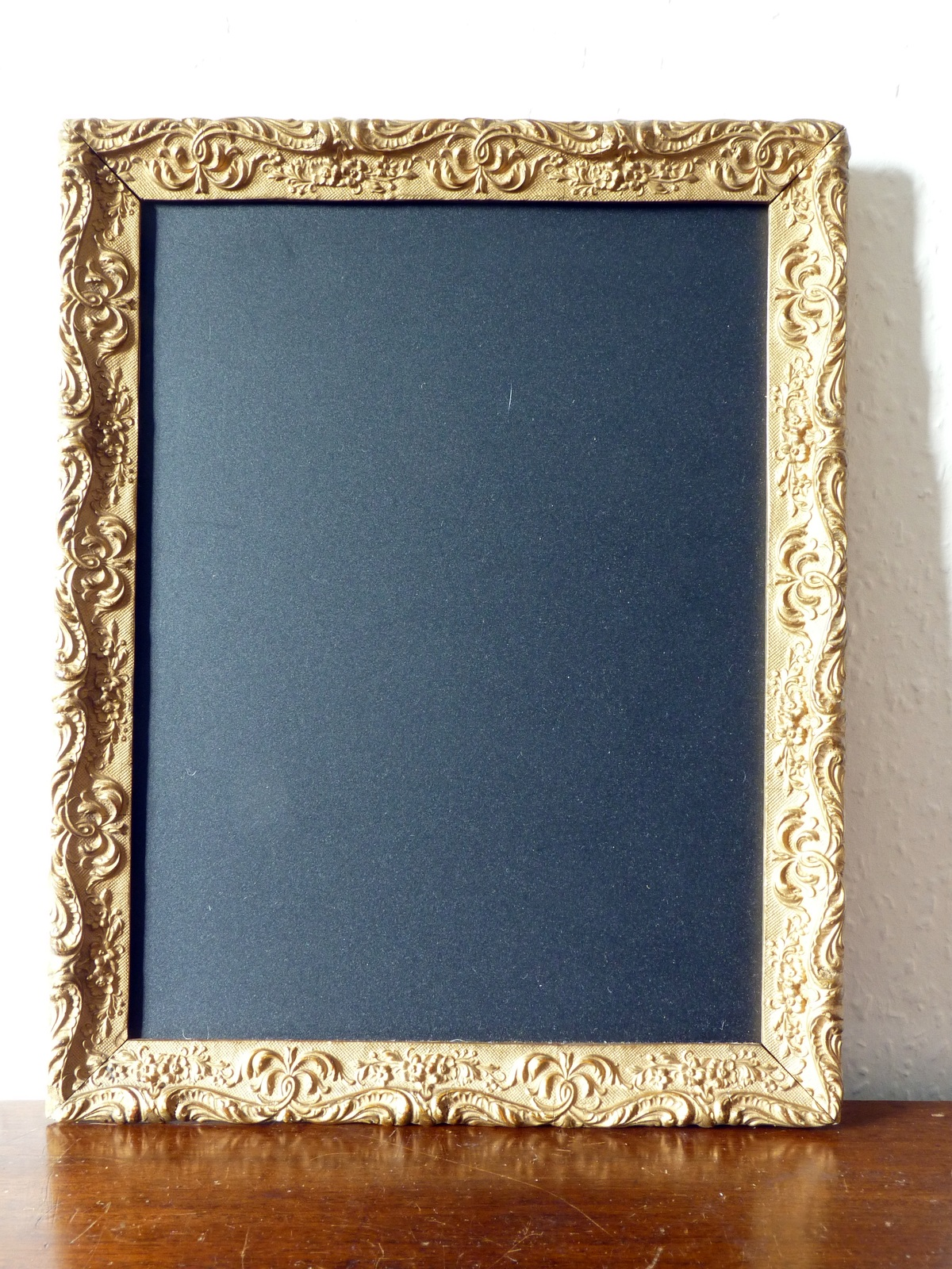 Small Antique Gilt Gesso Decorative Frame Blackboard