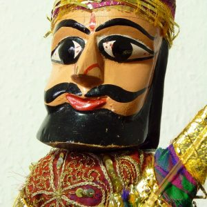 Large Musician Handmade Male Puppet Indian Rajasthani