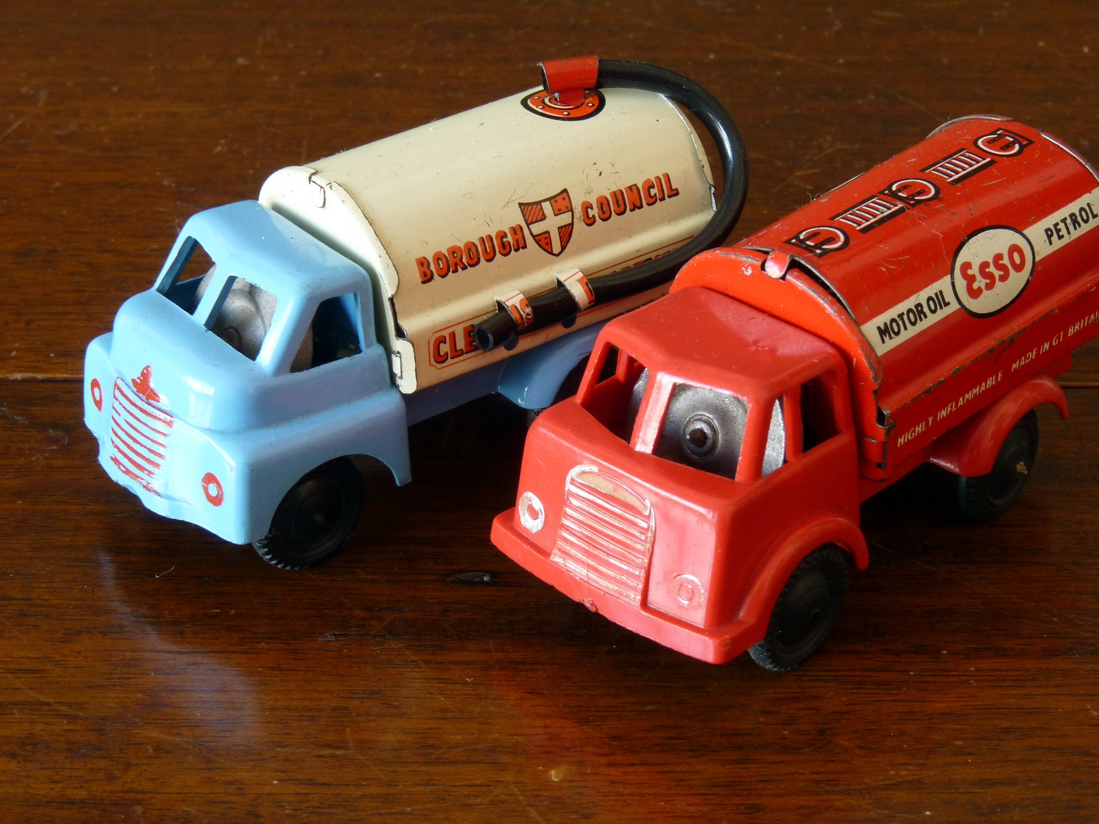 Wells Brimtoy Friction Drive Tinplate and Plastic Lorries