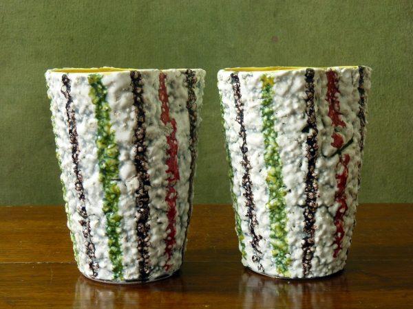 Fratelli Fanciullacci Mid-Century Textured Vases
