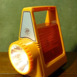 Boots Vintage Motoring Torch Warning Lamp Orange