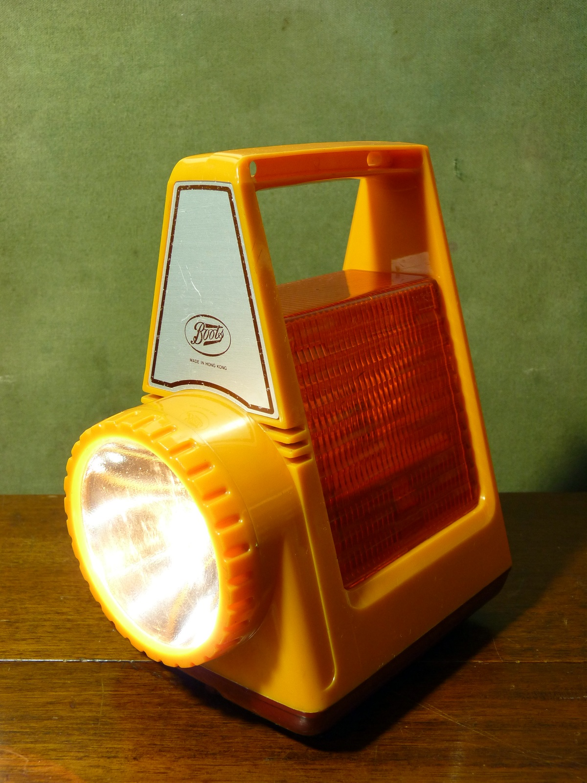 Boots Vintage Motoring Torch Warning Lamp Orange