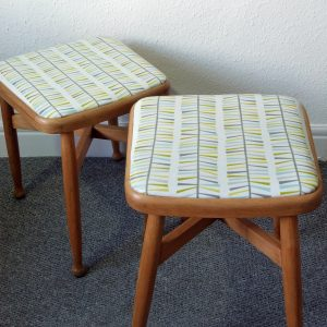 Pair of 1950s Beech Stools